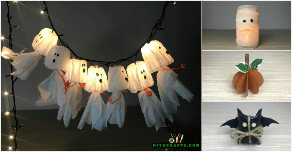 Wie man 5 gruselige Halloween-Dekorationen aus einfachen, billigen Lieferungen macht