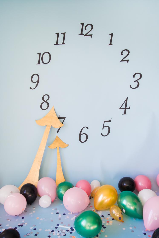 Countdown bis Mitternacht Kulisse