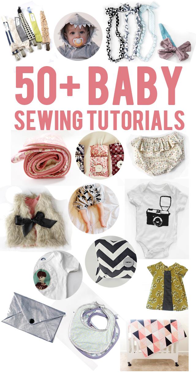 Machen Sie Ihre eigenen Baby-Kleidung mit diesen 50 + Baby Nähanleitungen