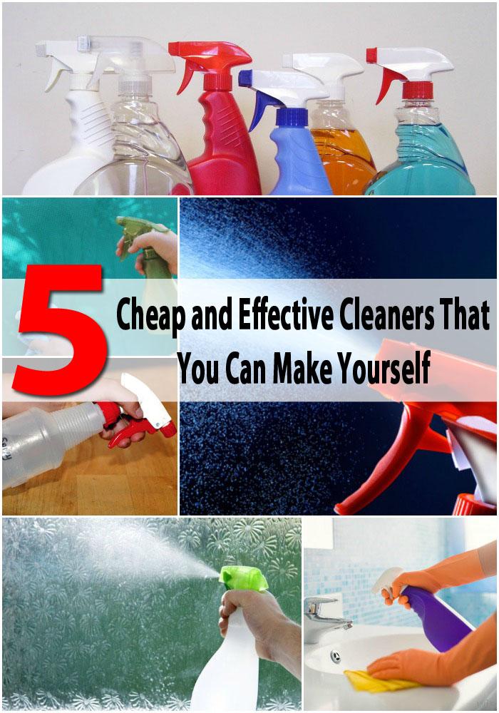 5 Günstige und effektive Reiniger, die Sie selbst machen können