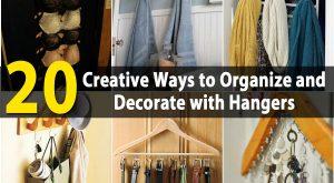 20 kreative Wege zum Organisieren und Dekorieren mit Kleiderbügeln