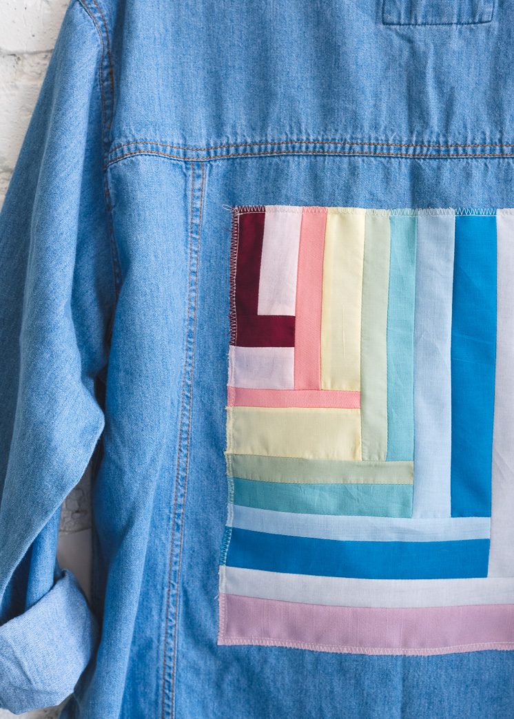 Jeansjacke gesteppte Applikation
