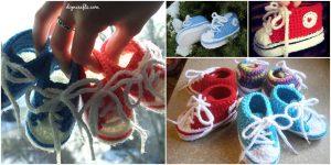 Kostenlose Muster: Entzückende Gehäkelte Baby Converse