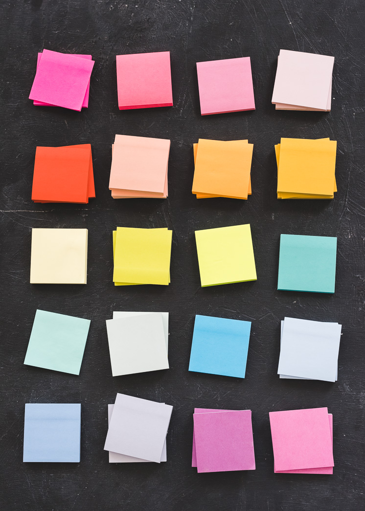 DIY Sticky Note Wandbild