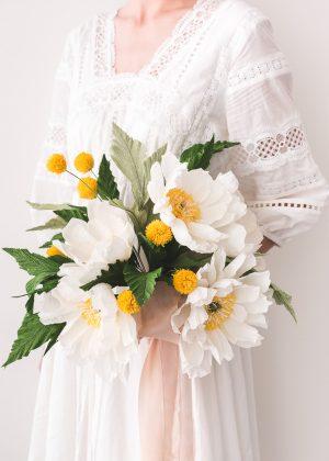Papierblumen-Hochzeits-Blumenstrauß