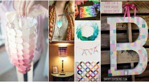 25 Brilliant Paint Chip Handwerk für Inneneinrichtungen und vieles mehr