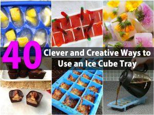 40 Clevere und kreative Möglichkeiten, ein Eiswürfelfach zu nutzen