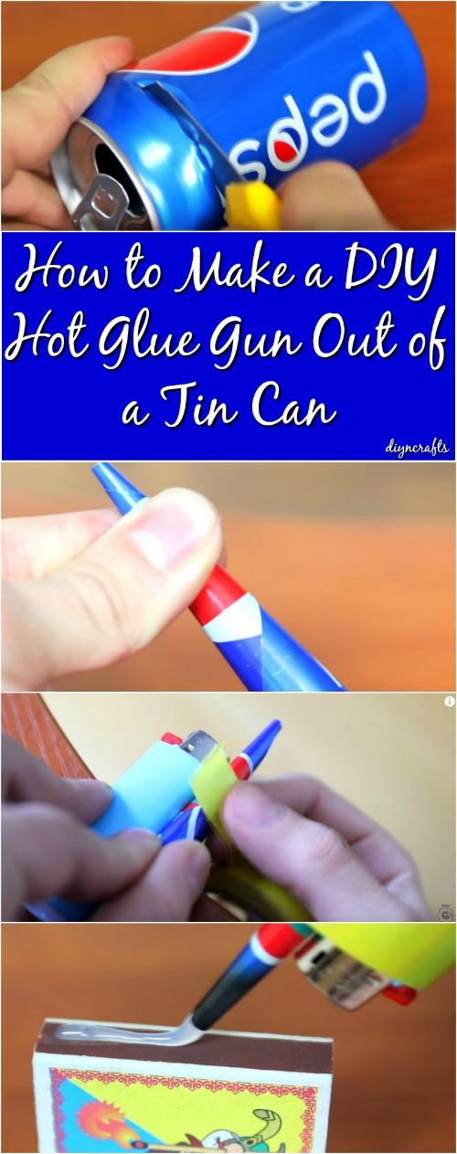Wie man eine DIY Heißklebepistole aus einer Blechdose macht