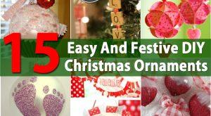 15 einfache und festliche DIY Weihnachtsverzierungen