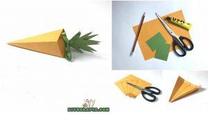 Wie man eine einfache Ostern-Papier-Karotten-Schachtel - Video Tutorial