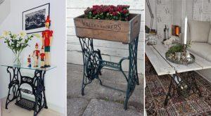 TOP 10 tolle Ideen, Ihre alten Nähmaschinen zu recyceln