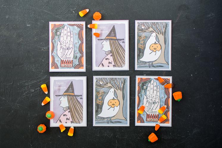 Bedruckbare Halloween Karten