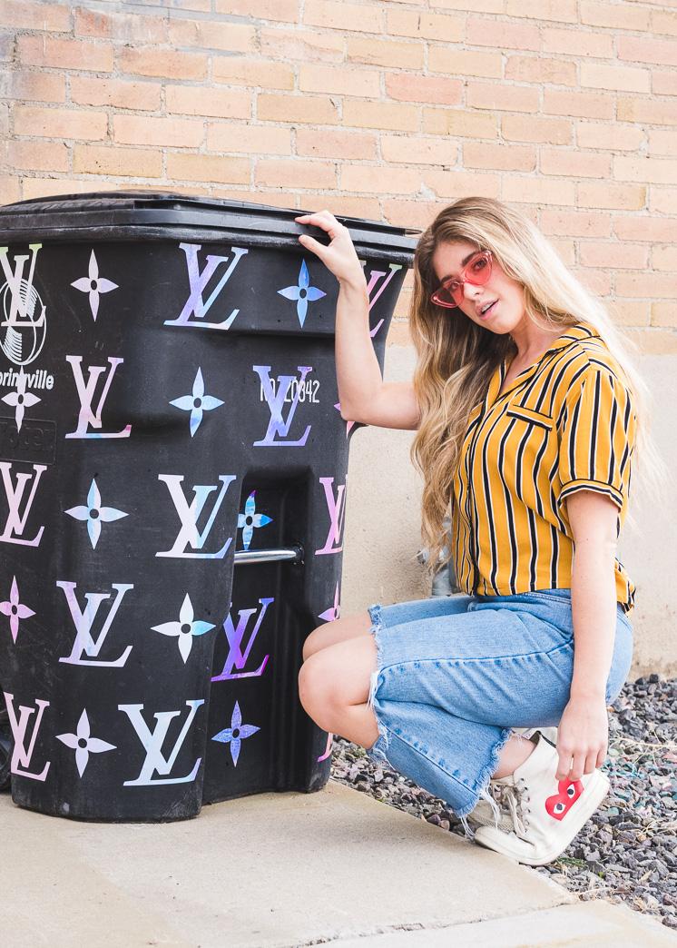 Louis Vuitton + Das Haus, das Lars Built Trash Can Makeover