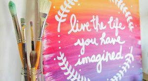 Machen Sie Ihre leere Wand mit diesem Sonnenuntergang-inspirierten DIY Wall Art Shine