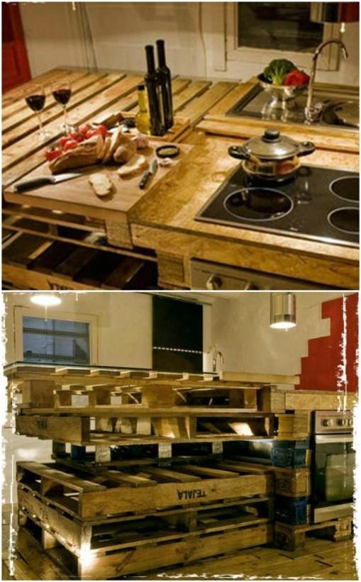 10 brillant rustikale DIY Palette Küchenmöbel Ideen