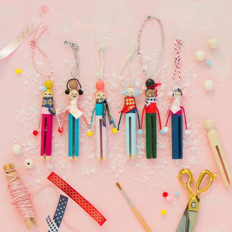 Wäscheklammer Menschen Ornamente