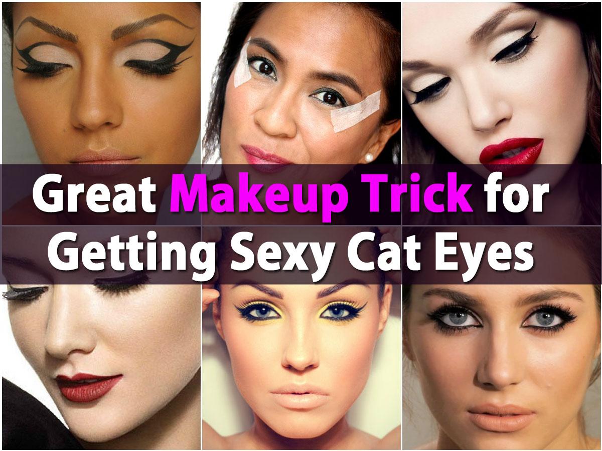 Große Make-up-Trick für immer sexy Cat Eyes mit Klebeband