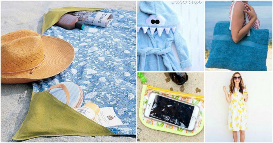 30 Top DIY Sommer Nähprojekte für Haus und Familie - mit kostenlosen Mustern!