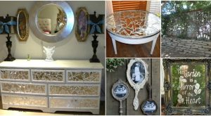 20 Brilliant Crafty DIY-Ideen Upcycle Broken Mirrors