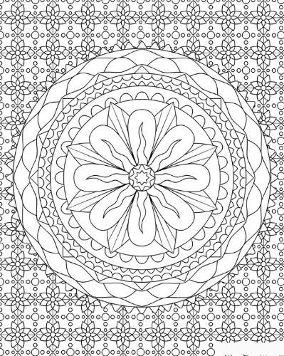15 erstaunlich entspannende kostenlose druckbare Mandala Malvorlagen für Erwachsene