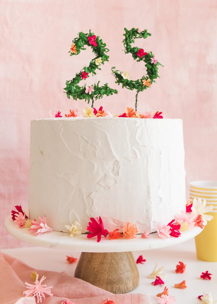 Floral Numbers Geburtstagskuchen Topper