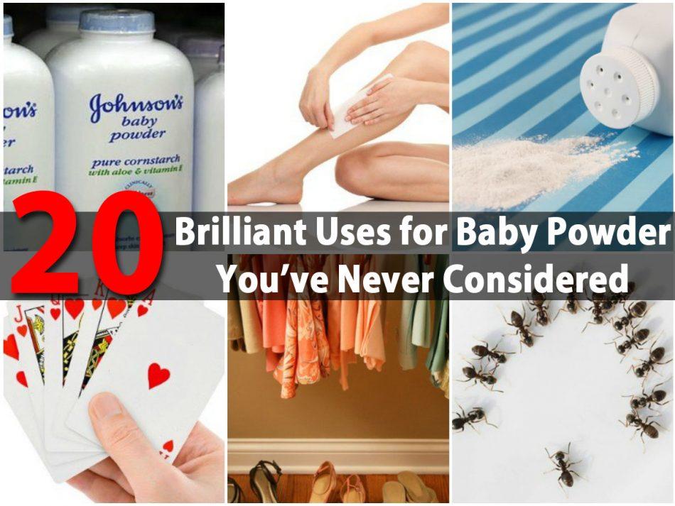20 brillante Anwendungen für Babypuder, die Sie nie in Betracht gezogen haben