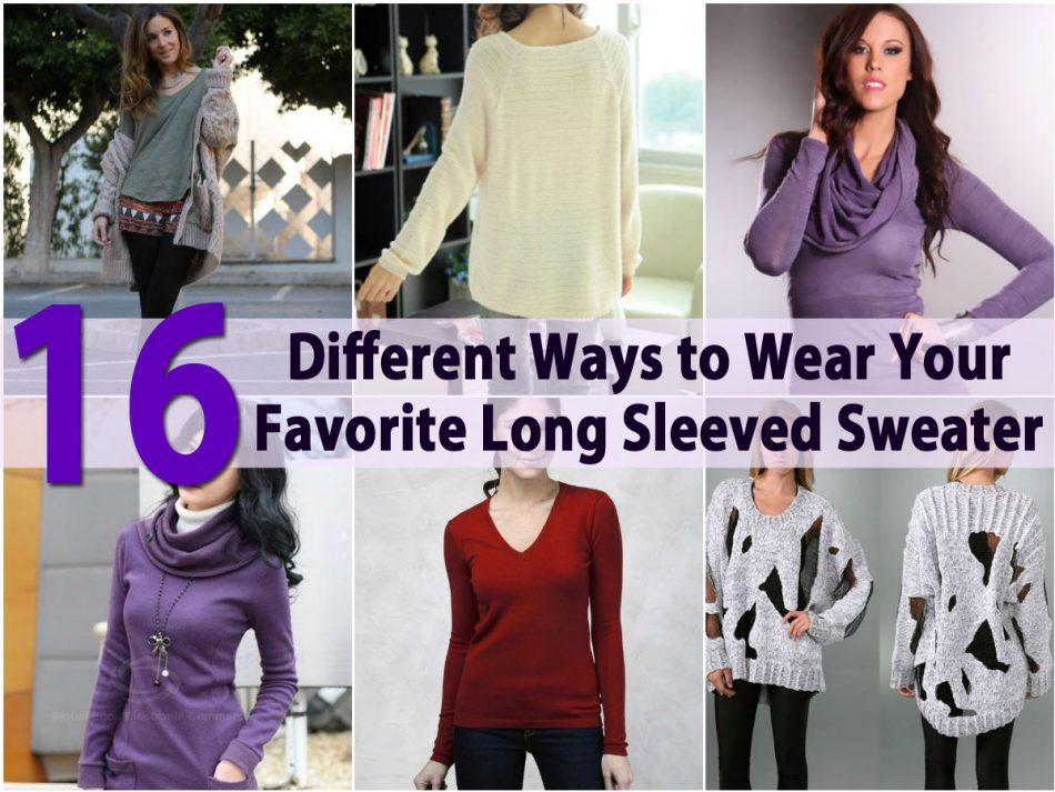 16 verschiedene Möglichkeiten, um Ihre Lieblings-Long Sleeved Sweater zu tragen