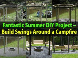 Fantastisches Sommer-DIY-Projekt - Baue um ein Lagerfeuer herum
