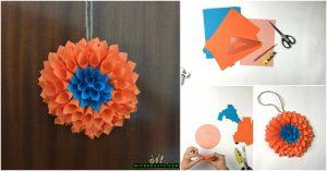 Wie man einen erstaunlichen Blumenkranz aus nichts mehr als Papier macht