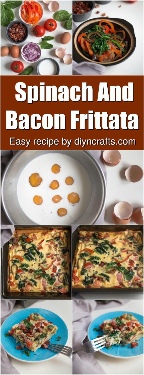 Wake Up To Deliciousness mit diesem Spinat und Speck Frittata