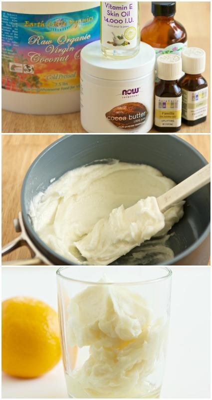 Verträumte hausgemachte Zitronencreme Body Butter Rezept