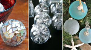 30 kreative Ideen zum Dekorieren und Füllen von Klarglasornamenten