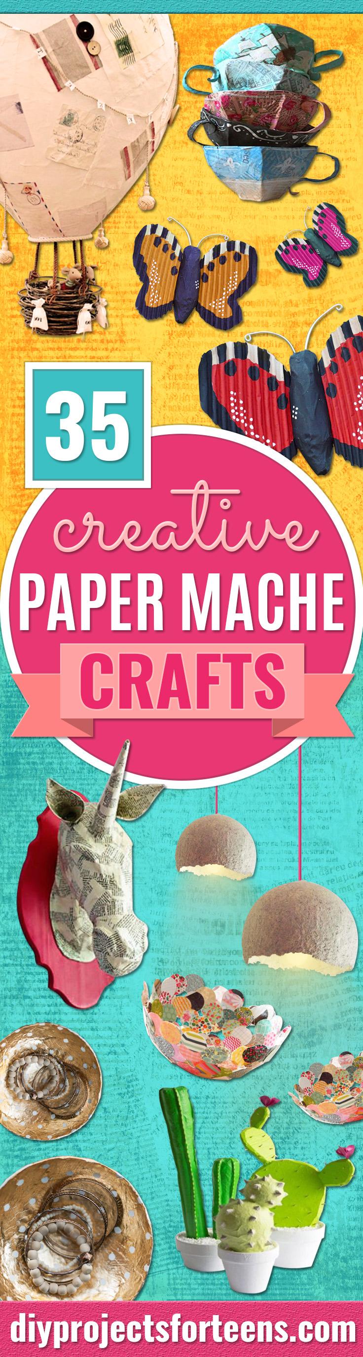 35 Kreatives Papiermachhandwerk