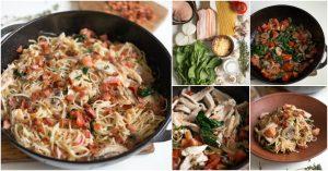 Erneuern Sie ein altes Rezept mit diesem Huhn, Speck und Spinat Spaghetti