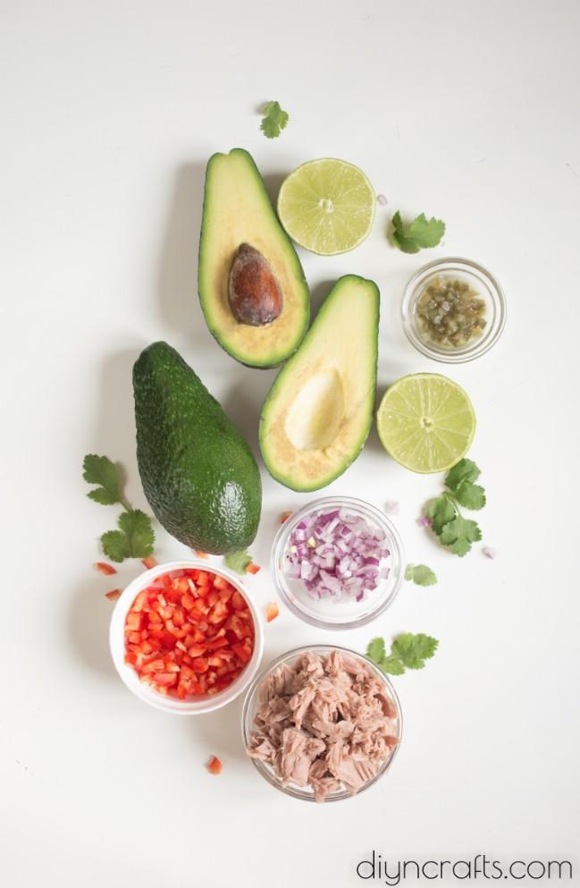 Thunfisch gefüllte Avocado - eine einfache und köstliche Vorspeise für jeden Anlass