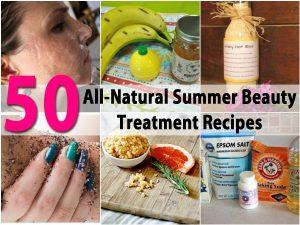 50 All-Natural Sommer Beauty Treatment Rezepte